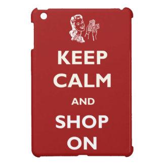 Keep Calm Shop On Retro iPad Case