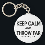 "Keep Calm Shot Put Discus Hammer Throw Keychain<br><div class=""desc"">Keep Calm and Throw Far keychain.