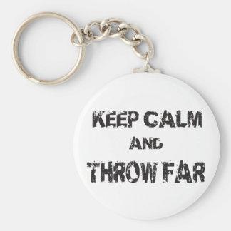 Keep Calm Shot Put Discus Hammer Throw Keychain