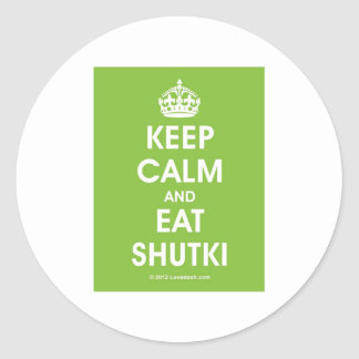 Keep Calm Shutki by Lovedesh.com Classic Round Sticker