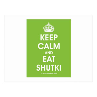 Keep Calm Shutki by Lovedesh.com Postcard