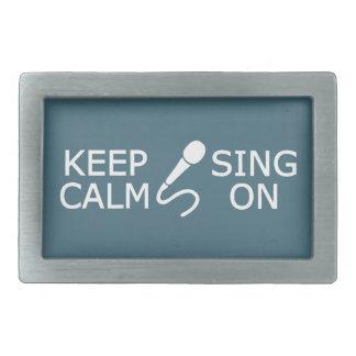 Keep Calm & Sing On custom color belt buckle