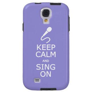 Keep Calm & Sing On custom color cases