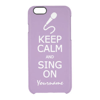 Keep Calm & Sing On custom color cases