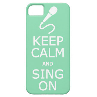 Keep Calm & Sing On custom color iPhone case