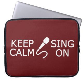Keep Calm & Sing On custom color laptop sleeve