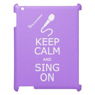 Keep Calm & Sing On custom iPad cases