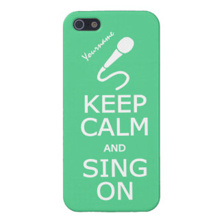 Keep Calm & Sing On custom iPhone cases
