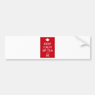 Keep Calm Sip Tea and Be - Teapot Bumper Sticker