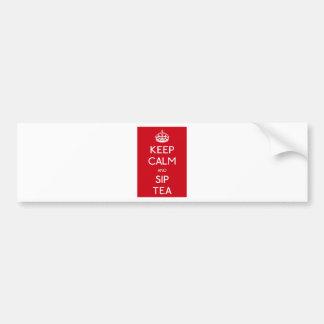 Keep Calm Sip Tea - Crown Bumper Sticker