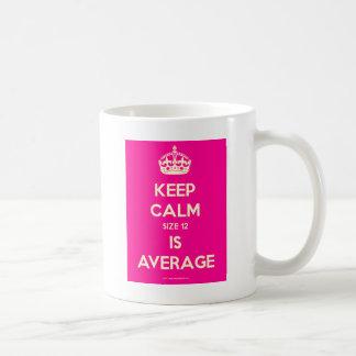 Keep-Calm-Size 12-Is-Average.pdf Classic White Coffee Mug