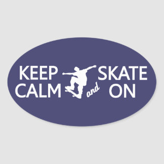 Keep Calm & Skate On custom color stickers