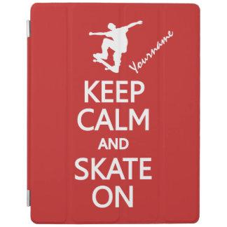 Keep Calm & Skate On custom device covers iPad Cover