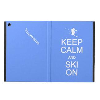 Keep Calm & Ski On custom cases iPad Air Cover
