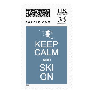 Keep Calm & Ski On custom color stamps