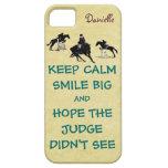 Keep Calm, Smile Big Equestrian iPhone 5 Cases