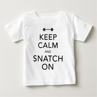 Keep Calm Snatch On Black Baby T-Shirt