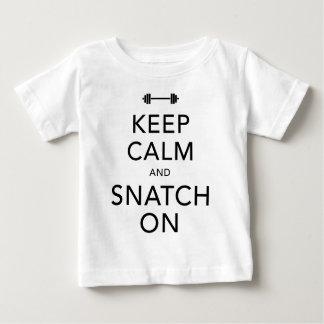 Keep Calm Snatch On Black Baby T-Shirt