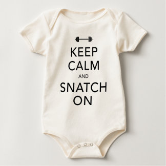 Keep Calm Snatch On Black Bodysuits