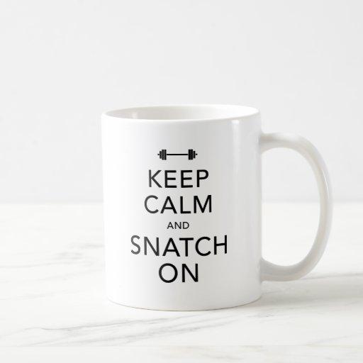 Keep Calm Snatch On Black Classic White Coffee Mug