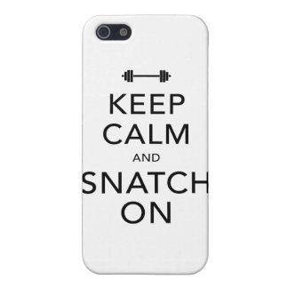 Keep Calm Snatch On Black iPhone 5 Case