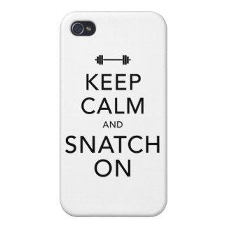 Keep Calm Snatch On Black iPhone 4/4S Case