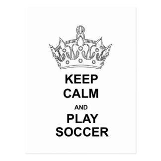 Keep Calm - Soccer Postcard