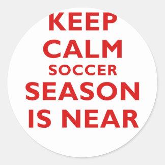 Keep Calm Soccer Season is Near Stickers