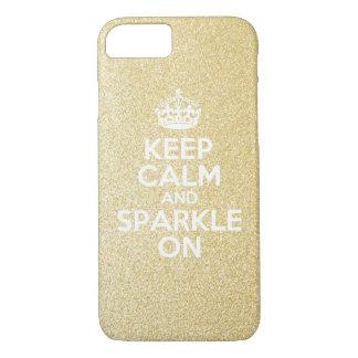 Keep Calm & Sparkle On iPhone 8/7 Case