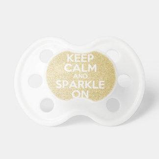 Keep Calm & Sparkle On Pacifier