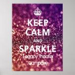 Keep Calm & Sparkle Poster
