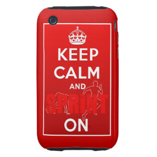 Keep Calm Sprinters Sprinting Sprint Tough iPhone 3 Cases