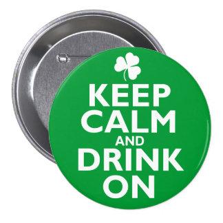Keep Calm St Patricks Day Humor Pin