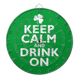 Keep Calm St Patricks Day Humor Dart Board