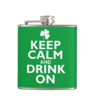 Keep Calm St Patricks Day Humor Flasks
