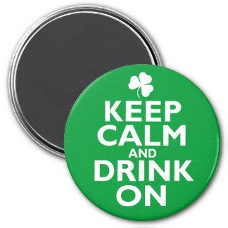 Keep Calm St Patricks Day Humor Fridge Magnets