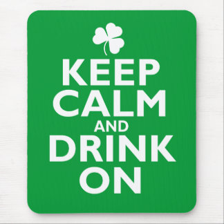 Keep Calm St Patricks Day Humor Mouse Pad