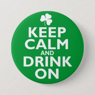 Keep Calm St Patricks Day Humor Pinback Button