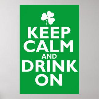 Keep Calm St Patricks Day Humor Poster