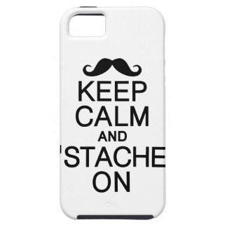 Keep Calm & 'Stache On iPhone 5 Case-Mate iPhone SE/5/5s Case