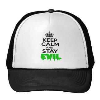 Keep Calm & Stay Evil Trucker Hats