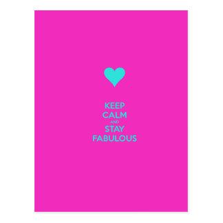 Keep Calm & Stay Fabulous Postcard