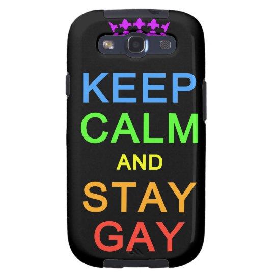 Keep Calm & Stay Gay Samsung case