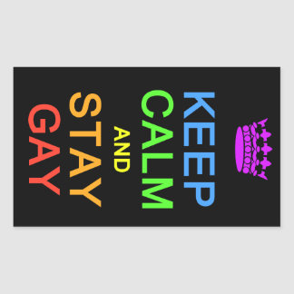 Keep Calm & Stay Gay stickers