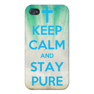 Keep Calm & Stay Pure iPhone 4 Cover