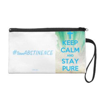 Keep Calm & Stay Pure Wristlet