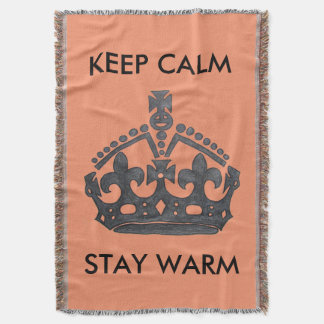 Keep Calm Stay Warm Throw Blanket-Made in the USA