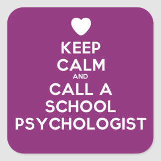 Keep Calm Stickers for the School Psychologist