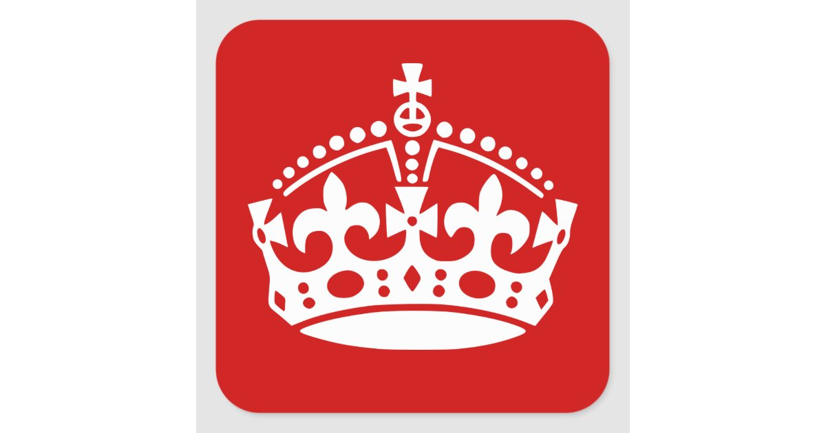Keep Calm Stickers With Crown Icon Zazzle