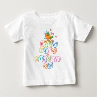 Keep Calm & Stroll On (white blocks) Baby T-Shirt